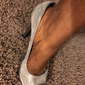 Calvin Klein gunmetal silver shoes